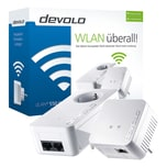 devolo dLAN 550 WiFi Starter Kit Powerline (WLAN über die Steckdose, 1x LAN Port, 2x Powerlan Adapter, PLC Netzwerkadapter, Mesh WLAN Verstärker, WiFi Booster, WiFi Move) weiß