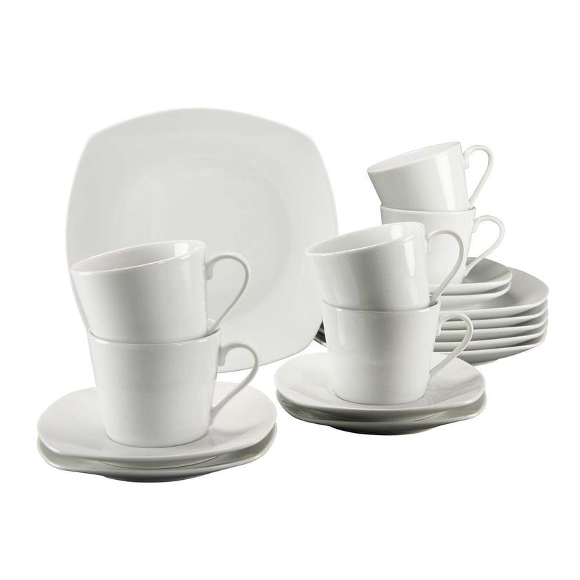 CreaTable Kaffeeservice Amelie 19510 weiß 18-teilig