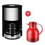 Krups KM 3210.SA ProAroma Plus Glas-Kaffeemaschine + Isolierkanne Samba von Emsa