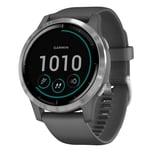 Garmin Vivoactive 4 GPS Multisport Smartwatch Fitness Herzfrequenz grau/silber