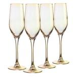 Creatable, 21345, Serie SHINY Gold, Sektkelch 4 teilig, Glas