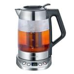 SEVERIN WK 3479 Glas Tee- und Wasserkocher 1,7L Deluxe Edelstahl/schwarz