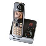 Panasonic KX-TG 6721 GB schwarz, Schnurlostelefon mit Anrufbeantworter