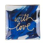 Gift Company Glasschälchen With love blau gold
