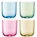 Lsa Wasserglas Polka 4er Set Pastell mundgeblasen und handbemalt