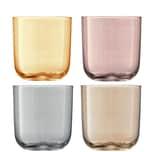 Lsa Wasserglas Polka 4er Set Metallic mundgeblasen und handbemalt