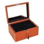 Gift Company Schmuckkasten mit Schloss orange mit Spiegel