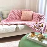 Adorist Wolldecke Cosima Chunky Knit rosa