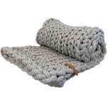 Adorist XXL Grobstrick Decke Cotton Tube, light grey