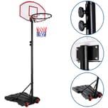 Sportana Mobiler Basketballkorb Basketballständer Höhenverstellbar 179-210cm