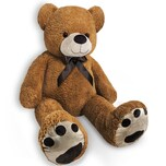 Monzana Teddybär Kuscheltier L 100cm braun