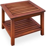 Casaria Beistelltisch Balkontisch Holz Akazie 45x45cm