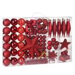 Casaria Weihnachtskugeln rot 102-teilig