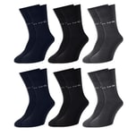 6 Paar Pierre Cardin® Socken Anthrazit - Blau - Schwarz - 43-46