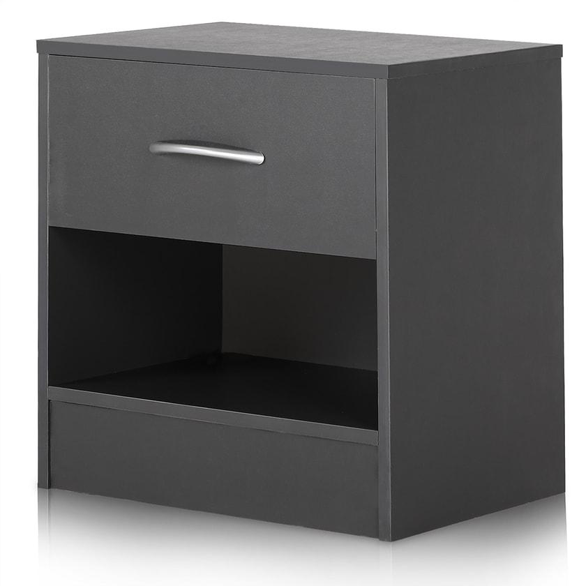 Deuba Nachttisch Nachtkonsole mit Schublade Anthrazit