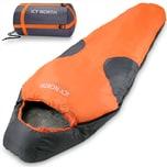 Deuba Schlafsack Mumienschlafsack Icy North 230x82cm bis -13°C Orange Grau