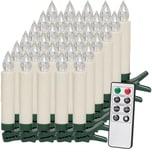 Deuba 30er Set LED Weihnachtsbaumkerzen mit Fernbedienung - warm weiß