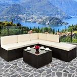 Deuba XXL Polyrattan Lounge-Set Sicherheitsglas