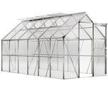 Gardebruk Aluminium Gewächshaus 7,2m² Treibhaus Garten Frühbeet