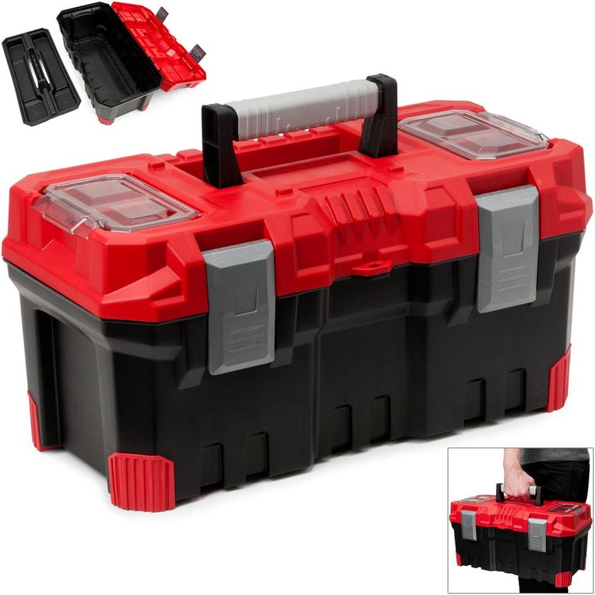 Deuba Werkzeugkoffer in schwarz -rot