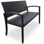 Deuba Gartenbank Poly Rattan 2-Sitzer UV-Lichtbeständig