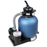 Sandfilteranlage 11.000 L/h mit Vorfilter und XXL Tank + Filterglas