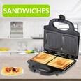 Monzana Sandwichmaker XXL mit Antihaftbeschichtung BPA frei 750W