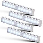 Monzana 4er Set LED Schrankleuchte mit Bewegungsmelder