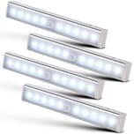 Monzana Schrankleuchte 4er Set Bewegungsmelder Schranklicht Schranklampe Schrankbeleuchtung