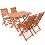 Casaria Sitzgruppe Sydney 4+1Set robustem Akazienholz