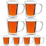 Monzana 8er Set Teegläser Teetassen Thermogläser Glas