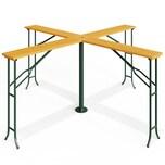 Casaria XXL Stehtisch Partytisch Quattro Klappbar Holz