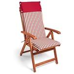 Detex 6x Stuhlauflage Vanamo Wasserabweisend Rot-Weiß