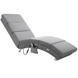 Casaria Relaxliege London Massage Leinenoptik Grau