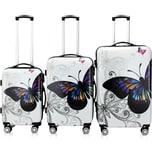 Deuba Butterfly Hartschalenkofferset
