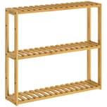 Casaria Standregal Wandregal Bad Holz Bambus 3 Etagen