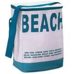 Deuba Kühltasche Picknicktasche Campingtasche 20L in blau-beige
