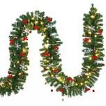 Casaria Weihnachtsgirlande 5m geschmückt