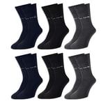 6 Paar Pierre Cardin® Socken Anthrazit - Blau - Schwarz -39-42