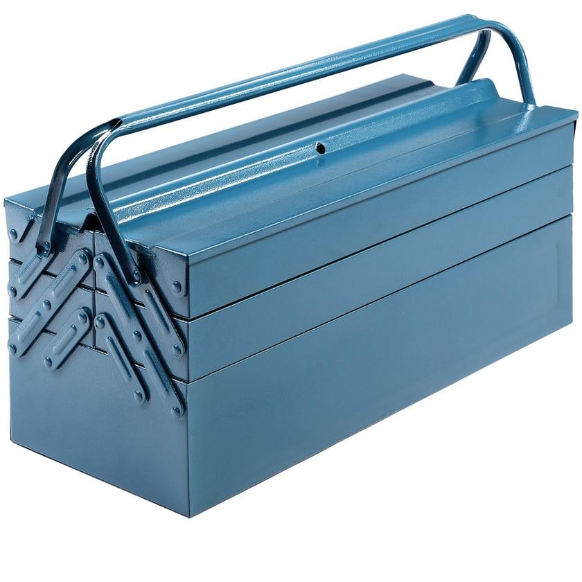 Deuba Werkzeugkoffer leer groß Stahl 5-teilig Werkzeugkasten