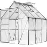 Gardebruk Gewächshaus aus Aluminium 3,7m² + Fenster + Regenrinne M4