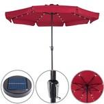 Deuba Sonnenschirm 32 LED Solar 330cm rot