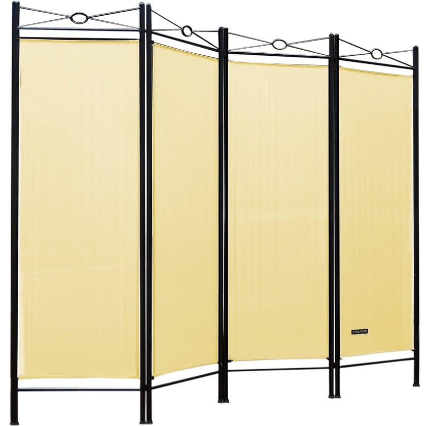 Casaria Paravent Raumteiler Sichtschutz Verstellbar 180x163cm Creme