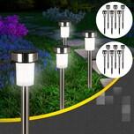 Deuba 24x LED Solarleuchte aus Edelstahl