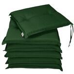 Deuba Stuhlauflagen 6er Set wasserabweisend Grün