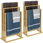 Casaria Handtuchhalter 2er Set aus Bambus