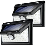 Monzana Solar Wandleuchten mit Bewegungsmelder 34 LED's Solarlampe 2x