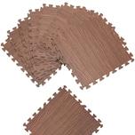 Deuba Puzzlematte 8er Set Bodenschutzmatte grau