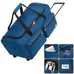 Deuba Reisetasche XL mit Trolleyfunktion und Teleskopgriff in Dunkelblau