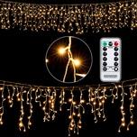 600 LED Regenkette warm-weiß mit Fernbedienung